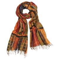Women's Vintage Books - Fringed Fashion Scarf Wrap