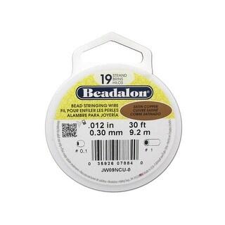 """Beadalon Bead Wire 19Strand .012"""" Satin Copper 30'"""