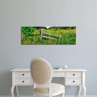 Easy Art Prints Panoramic Images's 'Old wooden fence and Goldenrod in a field, Kane County, Illinois, USA' Canvas Art