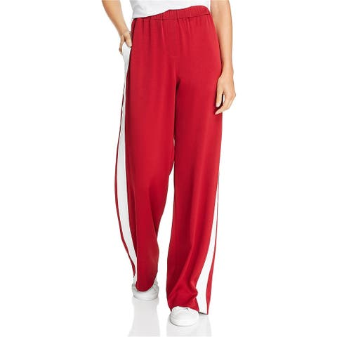 Elizabeth and James Womens Pull-On Athletic Track Pants, red, Small