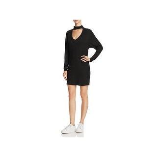 Splendid Womens Mini Dress Cut-Out Choker
