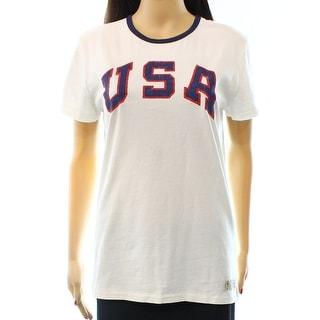 Polo Ralph Lauren NEW White Women's Size Large L Team USA T-Shirt