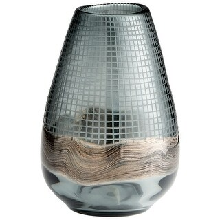 "Cyan Design 09971  Axiom 7-1/4"" Diameter Glass Vase - Mystique"