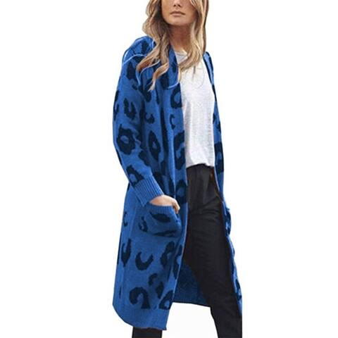 Camouflage Leopard Cardigan Sweater Female