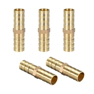 """25/64""""Brass Barb Hose Fitting Straight Connector Joiner Air Water Fuel Boat 5pcs - 10mm 5pcs"""
