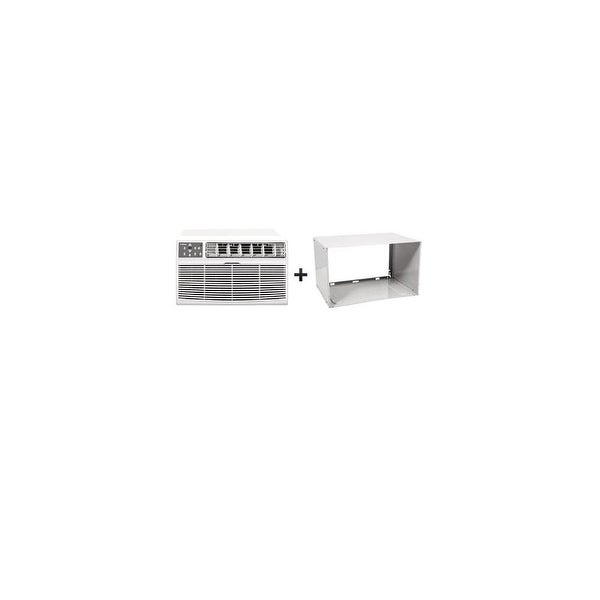 Koldfront WTC10012WCO230VSLV 10,000 BTU 230 Volt Through-the-Wall Air Conditioner and Wall Sleeve with Clean Filtration and