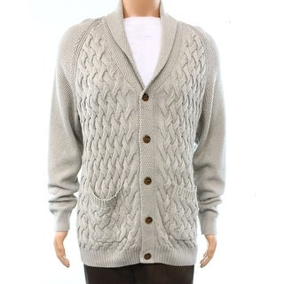 Tasso Elba NEW Beige Mens Size Small S Textured Shawl-Collar Cardigan