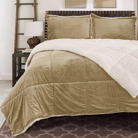 Reversible Fauxfur/ Sherpa Down Alternative Filled Comforter Set