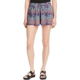 Ella Moss Womens Kaliso Casual Shorts Patterned Drawstring