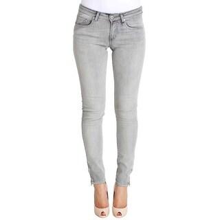 FIORUCCI FIORUCCI Gray Wash Cotton Denim Stretch Slim Fit Jeans