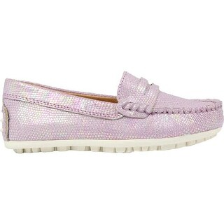 Umi Girls' Meesa II Moccasin Pink Leather