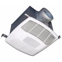 Air King EF130D Energy Star HVI Certified 130 CFM 3.0 Sone Humidity Sensing Exhaust Fan with Light - White - n/a