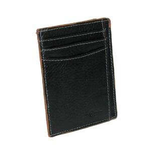 Buxton Men's Leather RFID Front Pocket Travel Wallet - One size (Option: Tan)