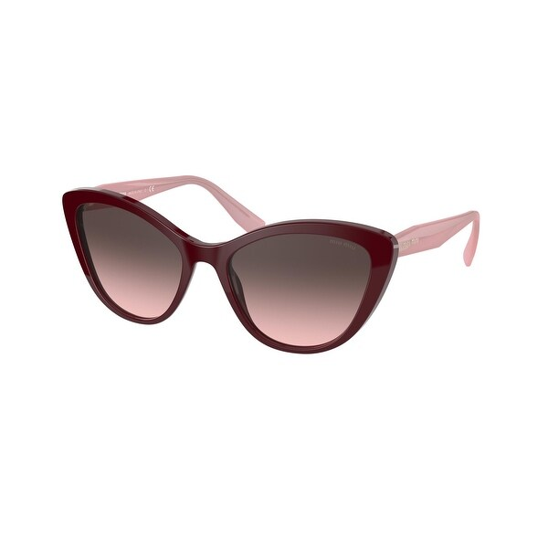 Miu Miu MU 05XS USH146 55 Bordeaux Woman Cat Eye Sunglasses. Opens flyout.