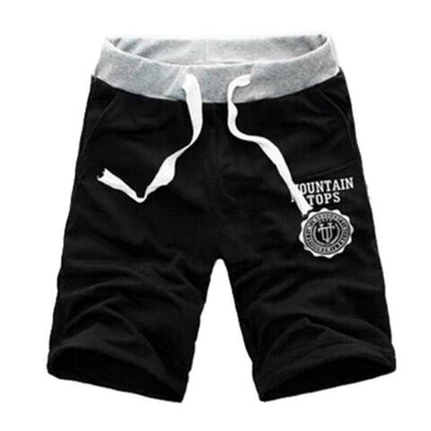 Fashion Casual Men Gym Sport Workout Jogging Cotton Drawstring Shorts Half Pants