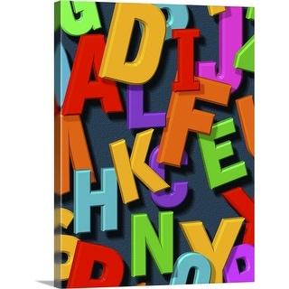 """""""alphabet"""" Canvas Wall Art"""