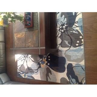 Modern Floral Non-Slip Area Rug