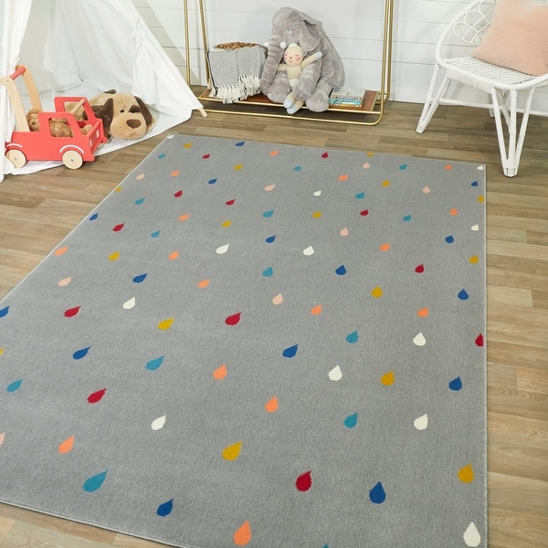 Mod-Tod Raindrops Kids Rug. Opens flyout.