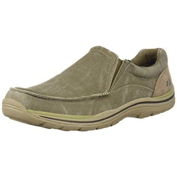 091a58ae Shop Skechers Men's Expected Avillo Relaxed-Fit Slip-On Loafer,Khaki,10.5 D  Us - Free Shipping Today - Overstock.com - 25973718