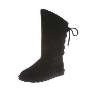 Bearpaw Boots Womens Phylly Angled Top Tall Laces Slim Outsole