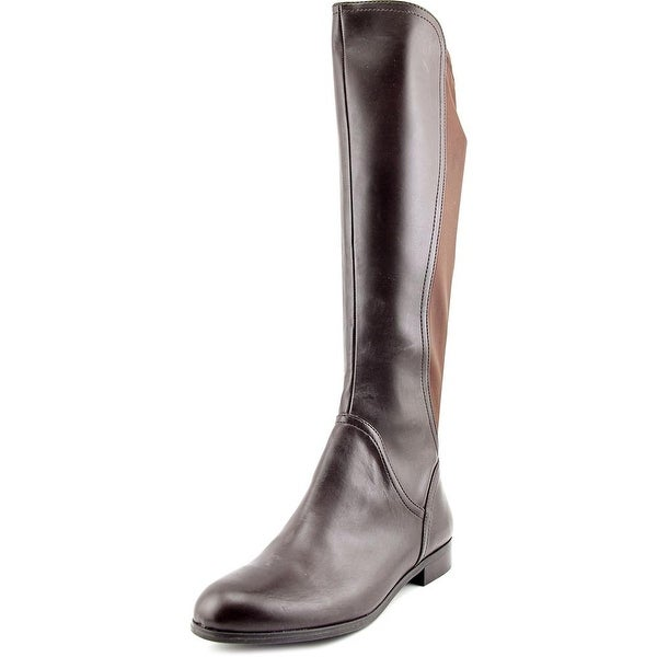 Franco Sarto Maleni Women Round Toe Synthetic Brown Knee High Boot