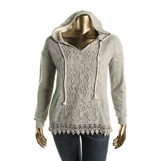 No Comment Womens Hacci Pullover Sweater Hooded Long Sleeves