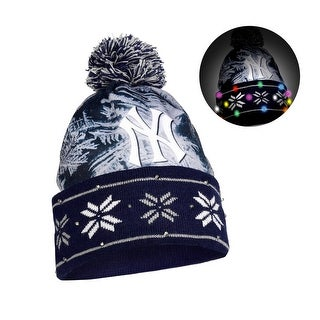MLB Light Up Big Logo Beanies NY Yankees