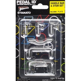 Pedal Id 1:9 Scale Bicycle: Handle Bar & Stem Set: Silver Plate - multi