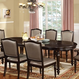 Link to Furniture of America Harllington Walnut 98-inch Expandable Dining Table Similar Items in Dining Room & Bar Furniture