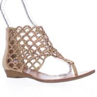 ZIGI Mela Caged Gladiator Flat Sandals, Cinnamon