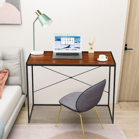 Home Office Furniture MDF Simple Cross Computer Desk
