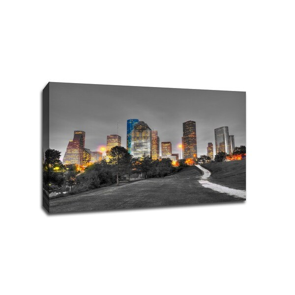 Houston - Touch of Color Skylines - 36x24 Gallery Wrapped Canvas Wall Art ToC
