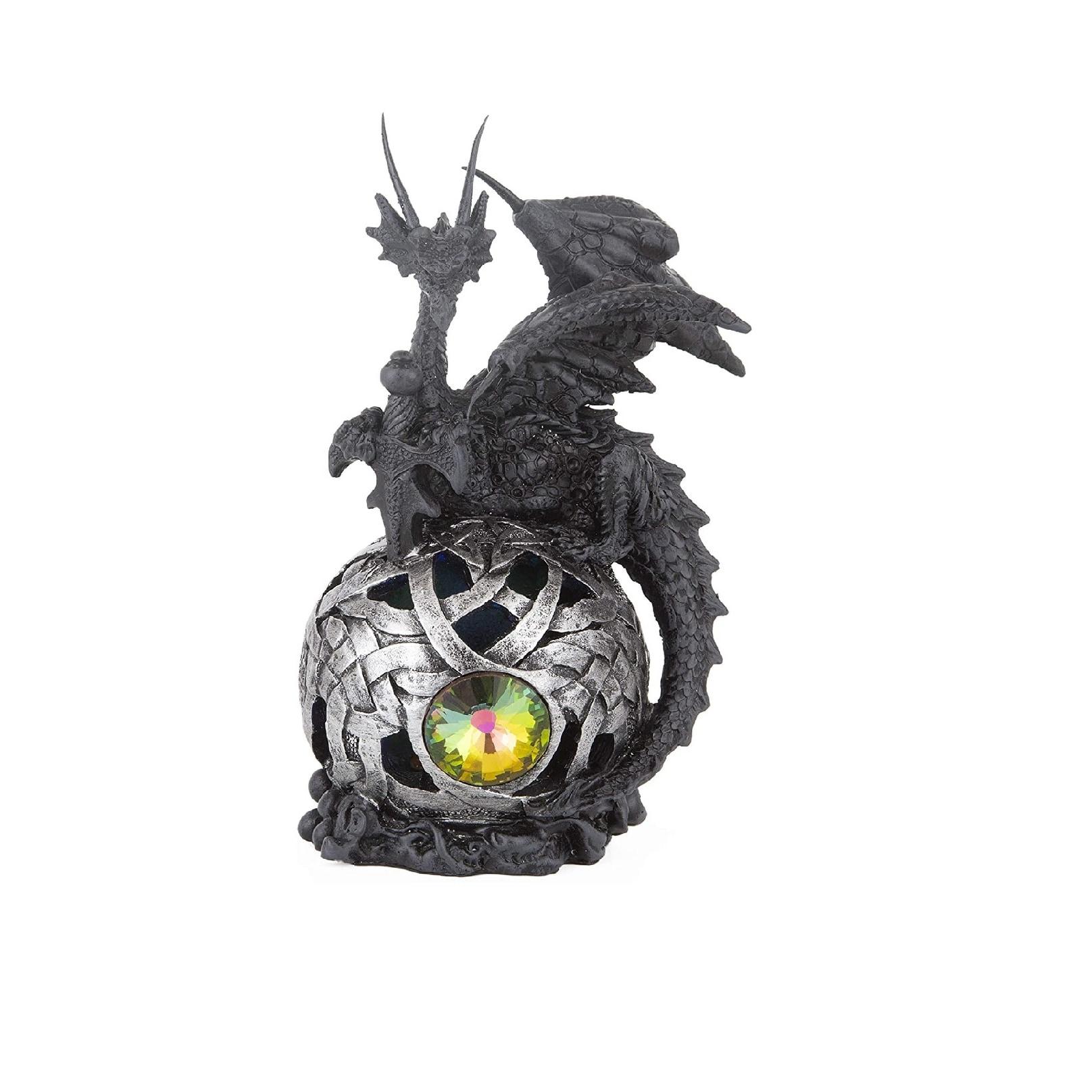 Q Max Dragon Globe With Led Light Statue Fantasy Night Light Decoration Figurine On Sale Overstock 32409598