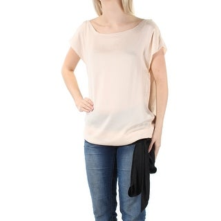 Link to RACHEL ROY Womens Ivory Tie Short Sleeve Jewel Neck Top  Size 6 Similar Items in Tops