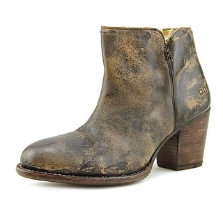 Bed Stu Yell Women  Round Toe Leather Black Bootie