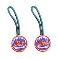 New York Mets Zipper Pull Charm Tag Luggage Pet Id Set