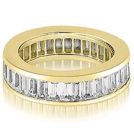 6.00 cttw. 14K Yellow Gold Baguette Diamond Eternity Ring