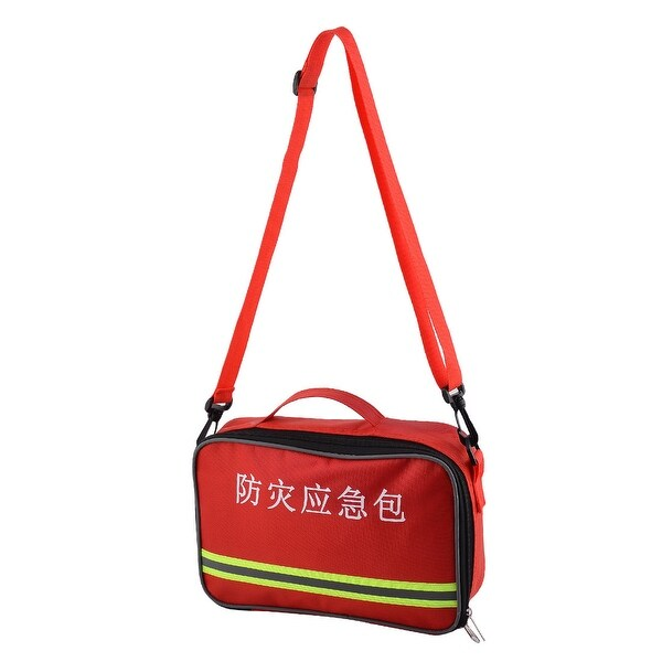 Outdoor Camping Hiking Oxford Cloth Emergency First Aid Rescue Storage Bag Red