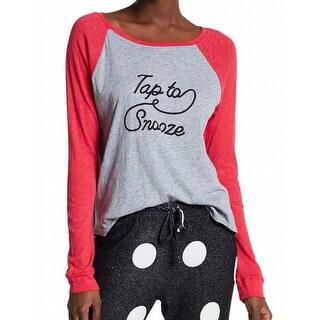 Free Press NEW Gray Women's Size Medium M Tap To Snooze Raglan Sleepshirt