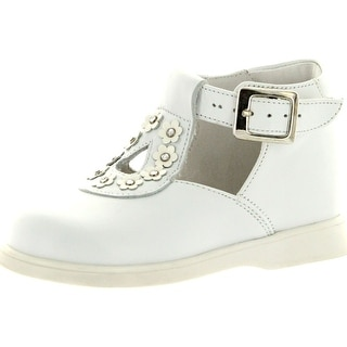 Oxford Girls 1416 Made In Italy Beautiful Dress Shoes - White.