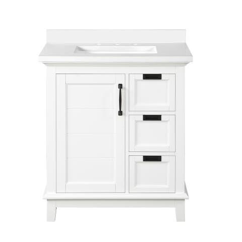 Ove Decors Pembroke 30 in. Single Sink Bathroom Vanity in White