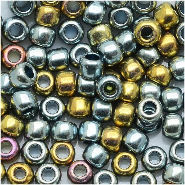 Toho Round Seed Beads 6/0 721 - Galvanized Blue Gold (8 Grams)