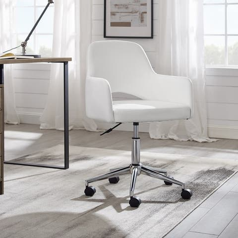 Art Leon Open-back Swivel Home Office Chair with Caster