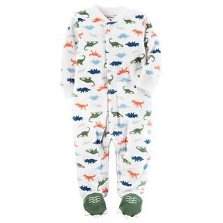 Carter's Baby Boys' Fleece Snap-Up Sleep & Play, Dino Print