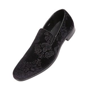Bolano Mens Dress Shoes Velvet Smoking Slippers
