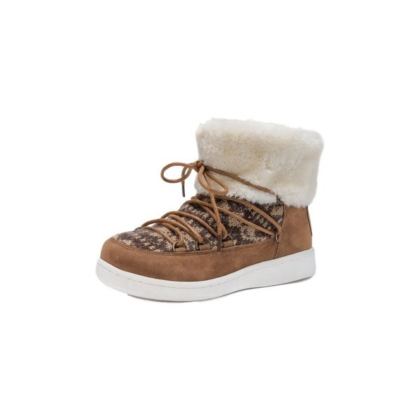 Muk Luks Boots Womens Colleen Water Resistant Pull On Tan