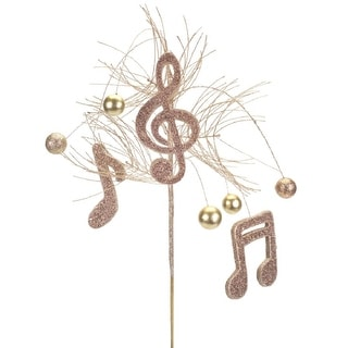 Club Pack of 12 Brown and Gold Decorative Artificial Musical Note Sprays 31""