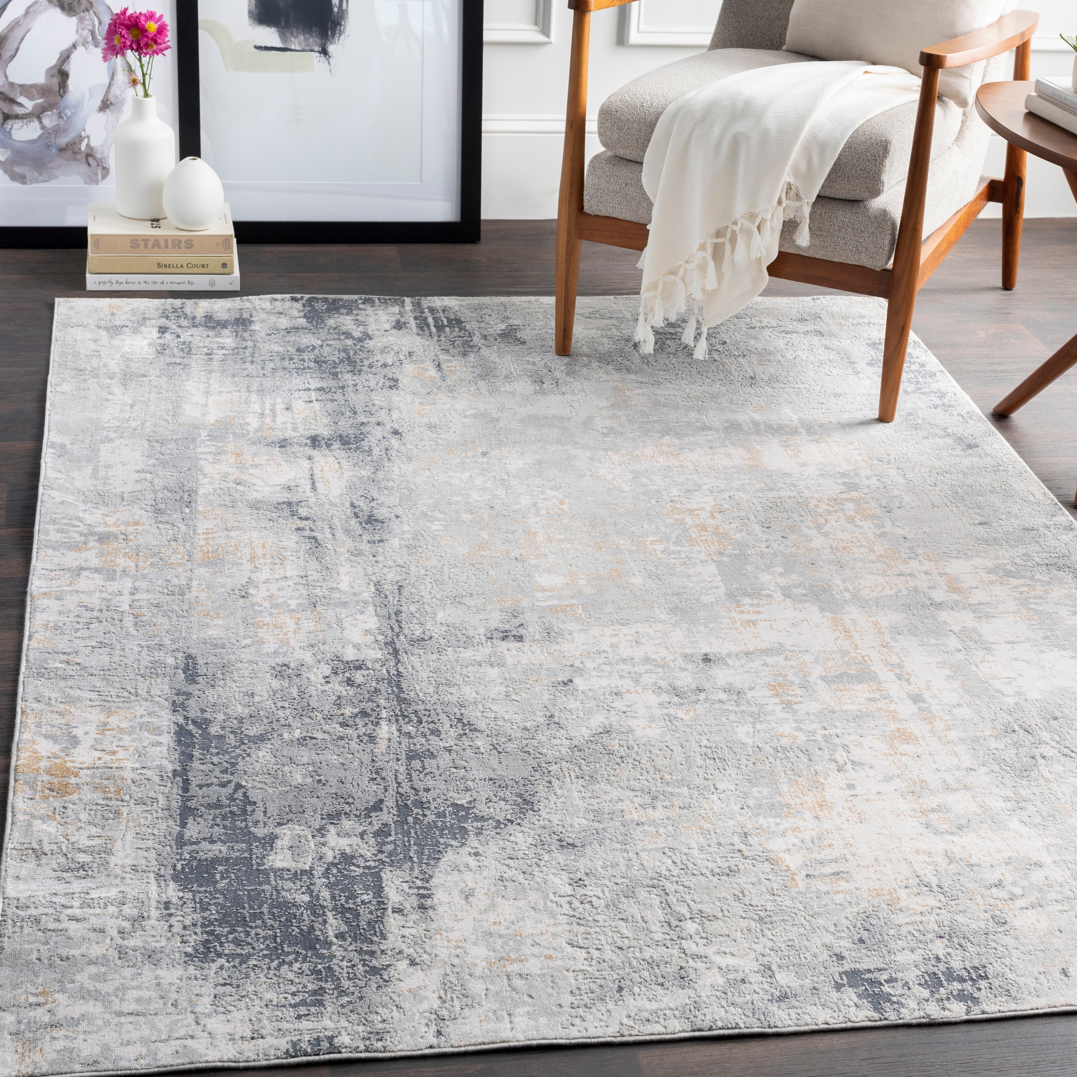 The Gray Barn Brook Haven Light Grey And Tan Modern Area Rug On Sale Overstock 26637097