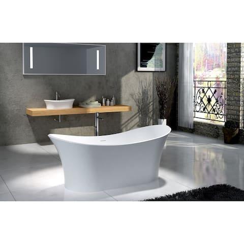 "Ocean 69"" Solid Surface Freestanding Bathtub"