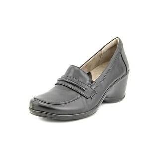 Naturalizer Insert Open Toe Leather Wedge Heel